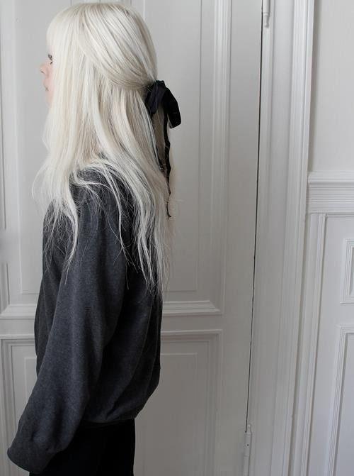 White hair is the cutest
