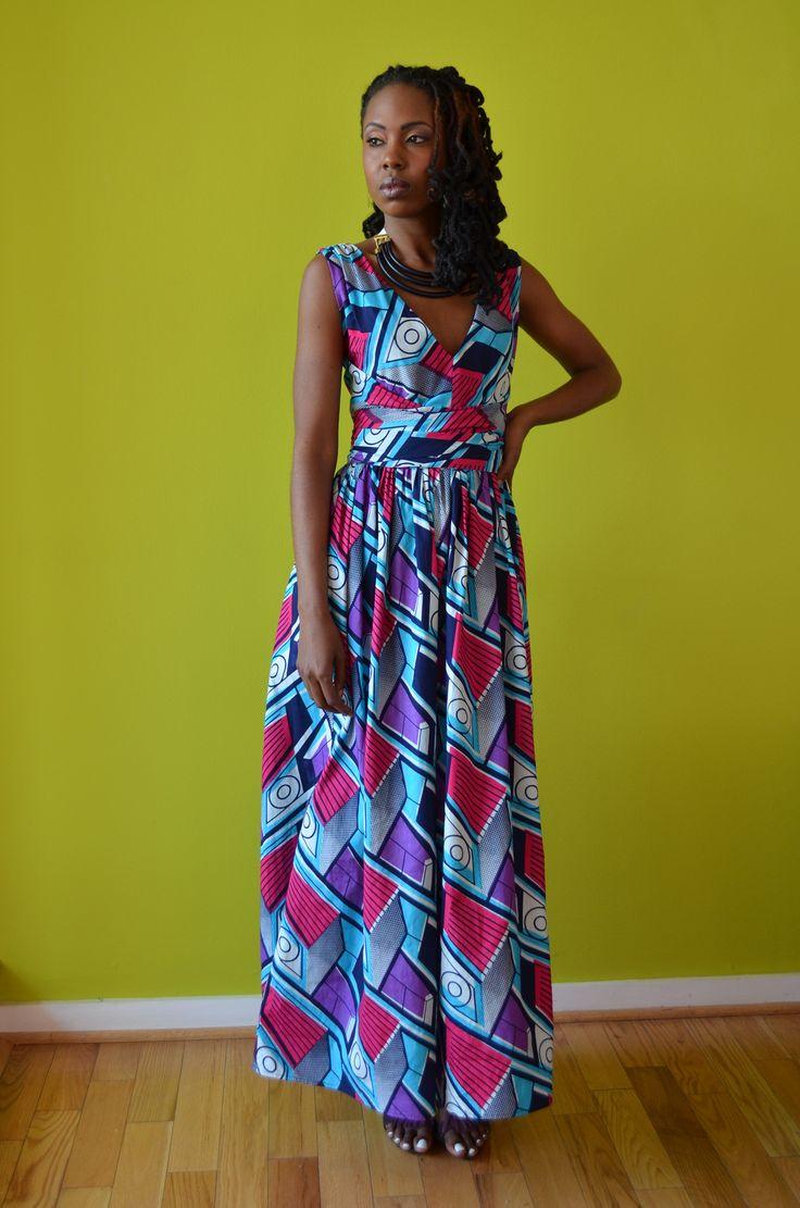 Our new Asheba ankara wrap dress ~African fashion, Ankara, kitenge, African women dresses, African prints, African men's fashion, Nigerian style, Ghanaian fashion ~DKK