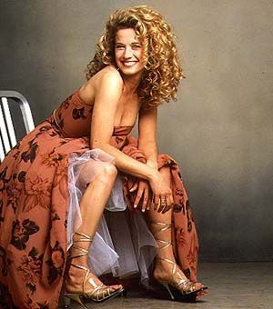 Nancy Travis, I can get my hair to do this if I grow it out!