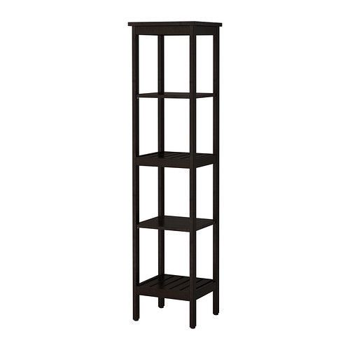 IKEA HEMNES Shelving unit, white and black brown , shelf.