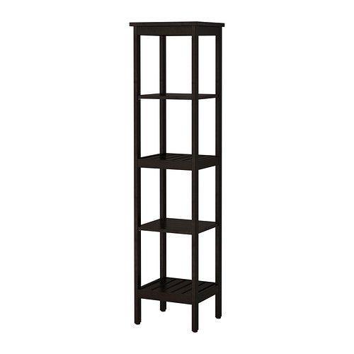 IKEA HEMNES Shelving unit, white and black brown , shelf.