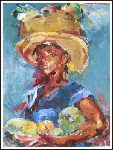 Trinidad Market Girl A New Painting