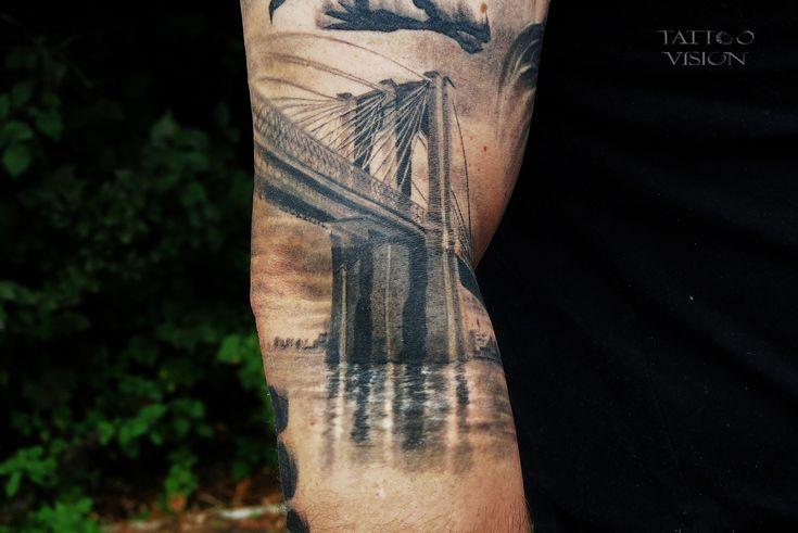Brooklyn bridge brooklyn and bridges on pinterest for Brooklyn tattoo ideas