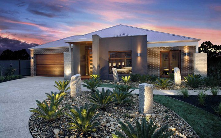 Grandview Contemporary Facade 1, New Home Designs - Metricon