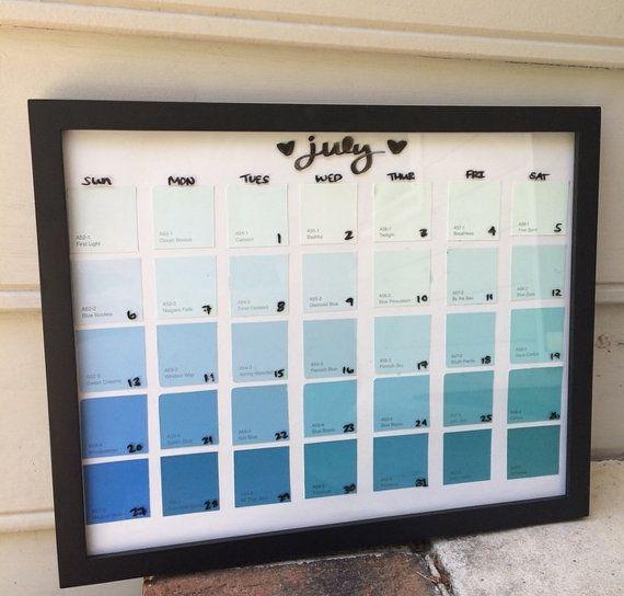 Wall Calendar // Dry Erase Calendar // Paint by DecorbyCayla