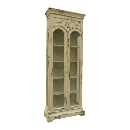 Handpainted Victorian Cream Display Cabinet