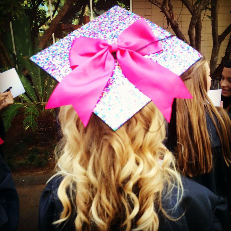 Graduation cap! cheer bow it's on my bucket list!