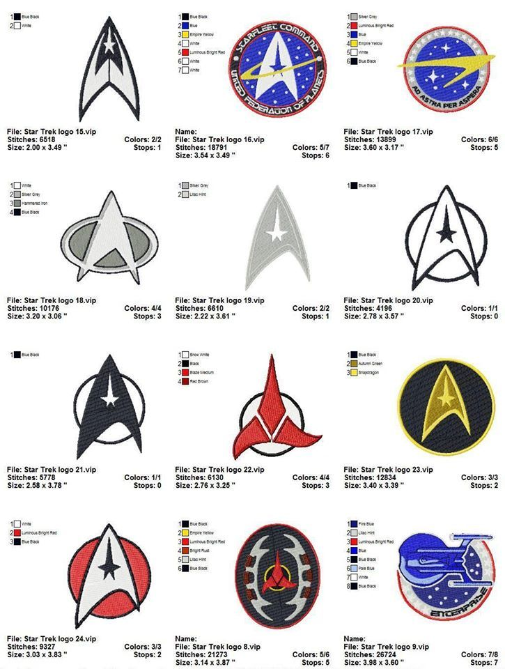 Star Trek sewing badges