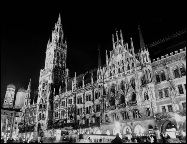 Marienplatz, München, Germany, Night