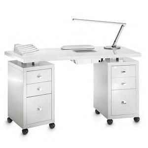 Manicure Table, Square Double Vented from DM Italy