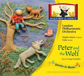 Maestro Classics.  We bought the 9 CD set and are thoroughly  enjoying our first CD, Peter and the Wolf