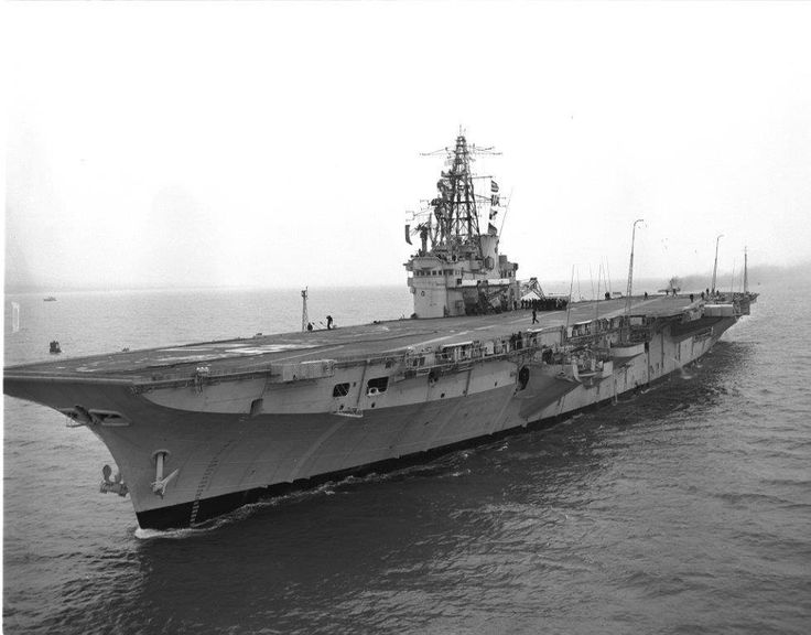 Today in aviation history  January 17, 1957 – HMCS Bonaventure, Canada's last aircraft carrier, is commissioned at Belfast, Northern Ireland. She is also the first aircraft carrier to be owned outright by Canada and incorporates several post-war technical developments: an angled deck, mirror landing aid, and steam catapult.