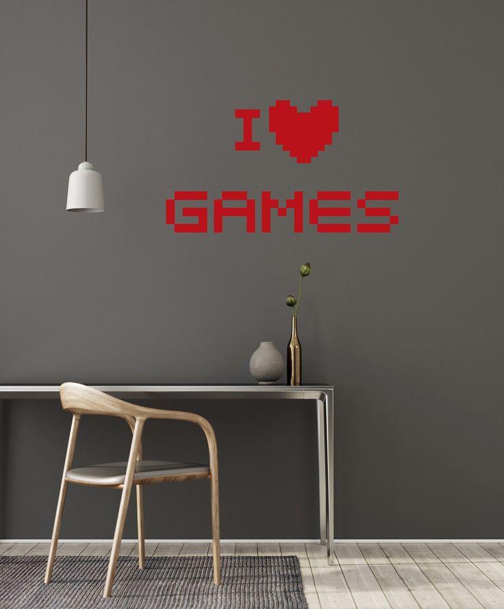 Video Games Vinyl Wall Decal Gamer Room Pixel Art Playroom Interior Stickers Mural (#2939di)