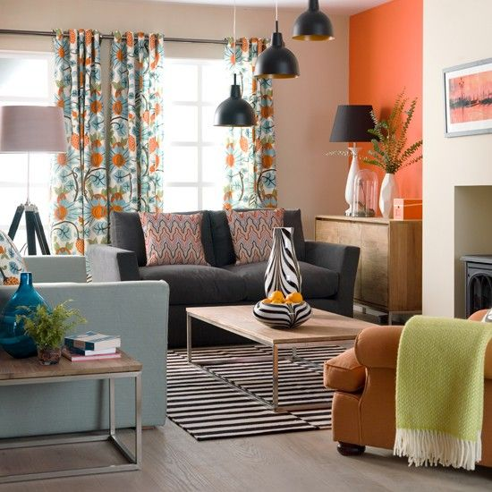 Retro living room   Take a tour around a colourful house   Ideal Home Show 2011   Decorating with colour   Housetohome