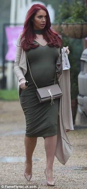 Dressed to impressed: Also arriving at the baby shower was pregnant Amy Childs, who looked...