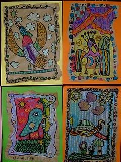 http://mexico.mycityportal.net - Mexico & Peru: Amate Paintings. This website features various Spanish and Mexican cultural art projects for ELL and multicultural students