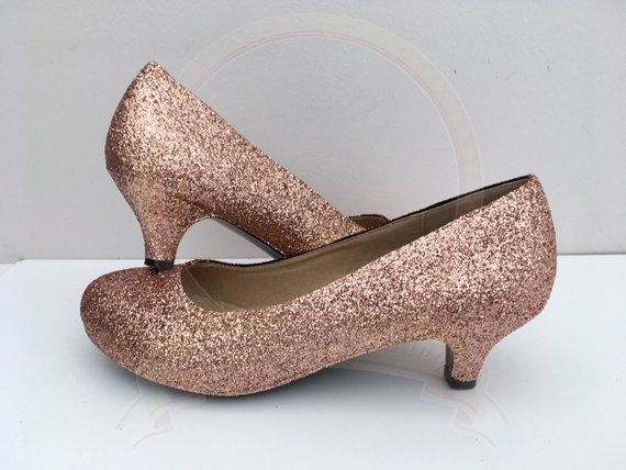 Please Note Kitten Heel Size Can Come Up Small Consider Ordering A Size Up Heel Grips Can Be Included Fr Rose Gold Shoes Rose Gold Heels Gold Kitten Heels