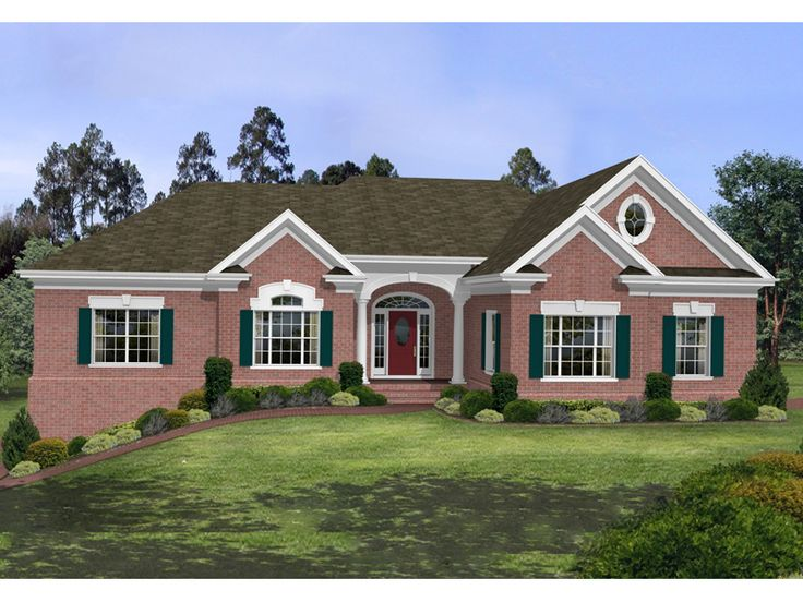 53 best images about ranch homes and landscapes on pinterest for Country ranch house plans