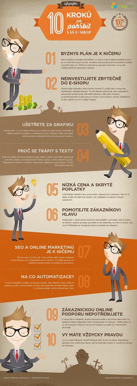10 kroku, jak pohrbit vas e-shop - infografika