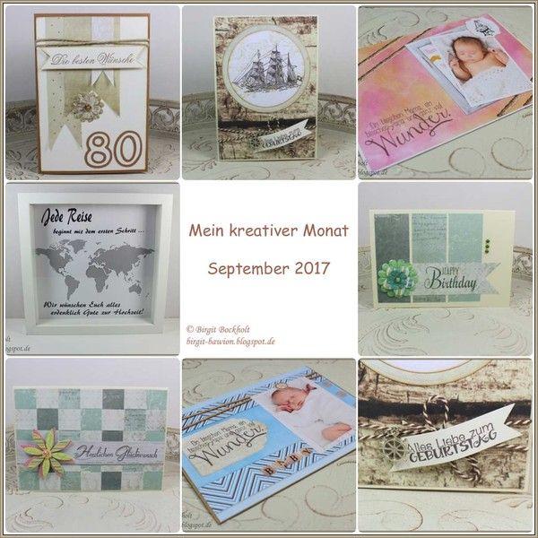 Mein kreativer Monat - September 2017 - Birgit's Blog - kreatives und mehr...