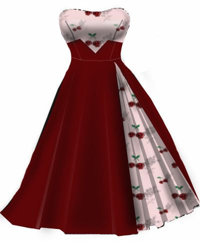 Rockabilly Dress..Pink and red cherry...would be a cool bridesmaid dress!