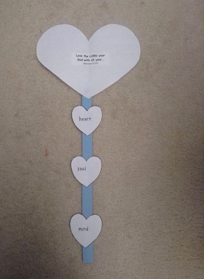 Heart craft on Matthew 22:37