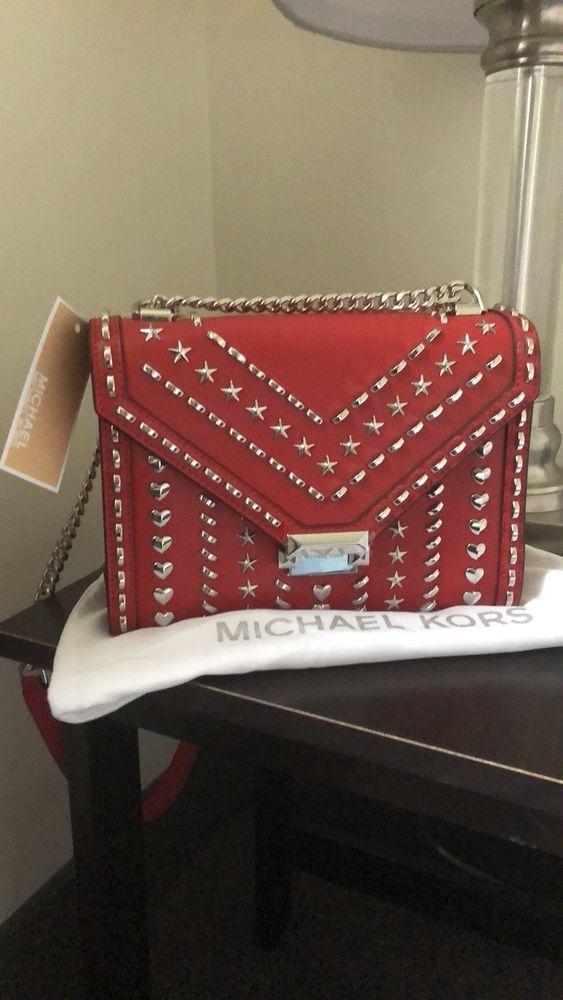 8921003b0d76 Michael Kors X Yang MI Whitney Large studded Leather Convertible Shoulder  Bag  fashion