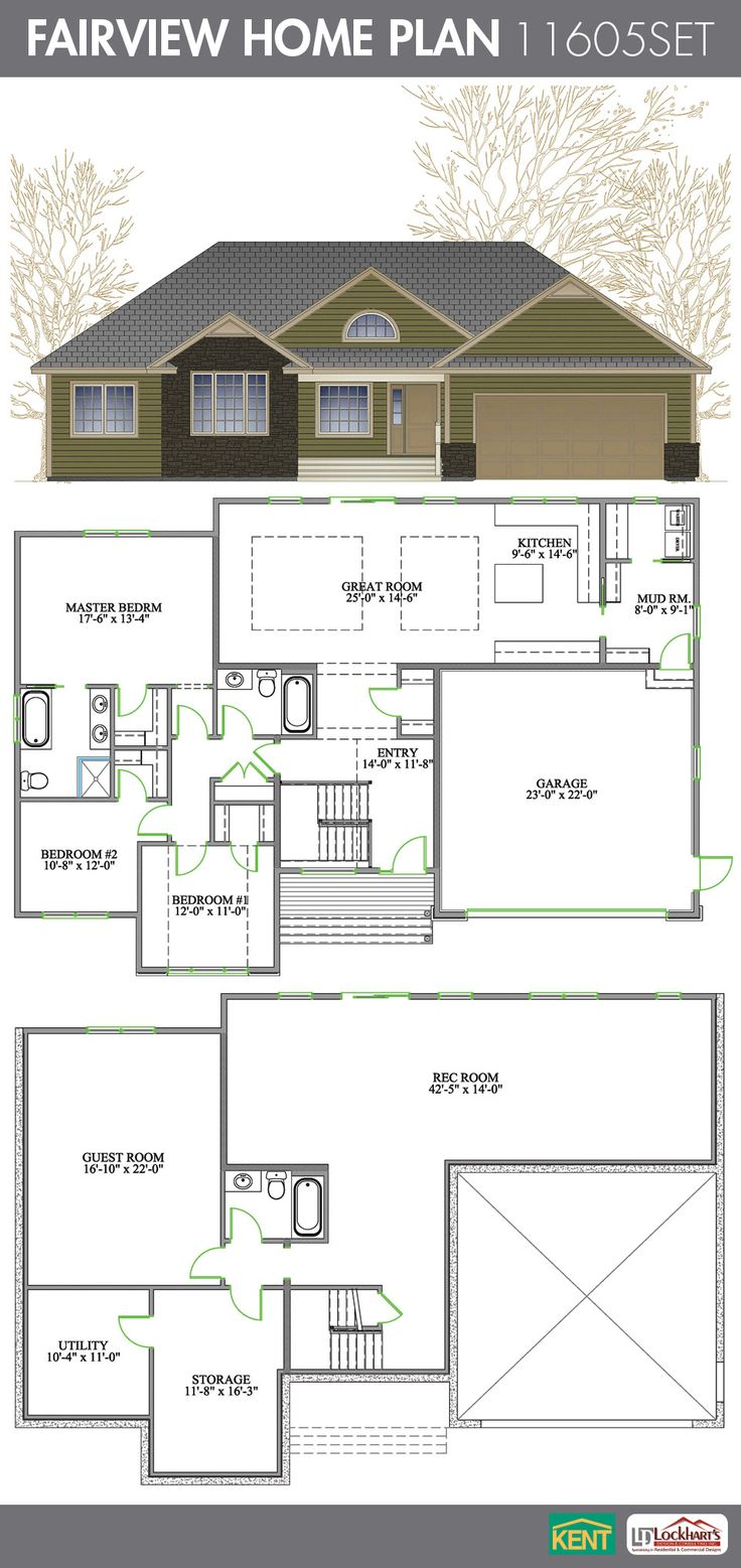 Fairview 4 Bedroom 3 Bathroom Home Plan Features Open