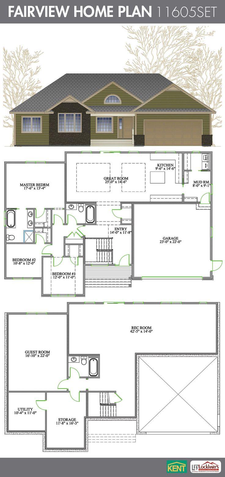 Fairview 4 bedroom 3 bathroom home plan features open for Ranch floor plans with great room