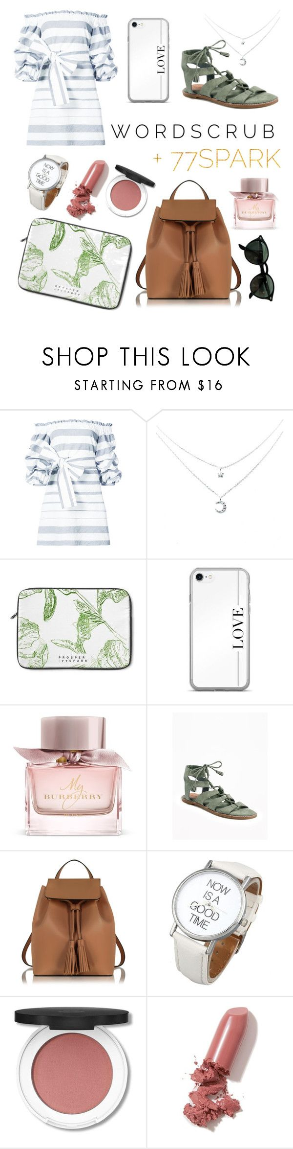 """""""77SPARK"""" by taylor-anne-moore ❤ liked on Polyvore featuring Alexis, Burberry, Le Parmentier, LAQA & Co. and Ray-Ban"""