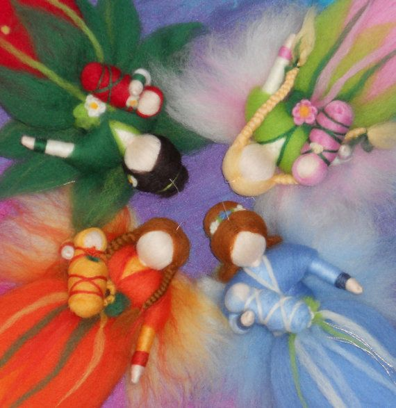 Four Season Fairies ready to ship Fairy Dolls by PeachCreation, $90.00    My God, these are so beautiful!!