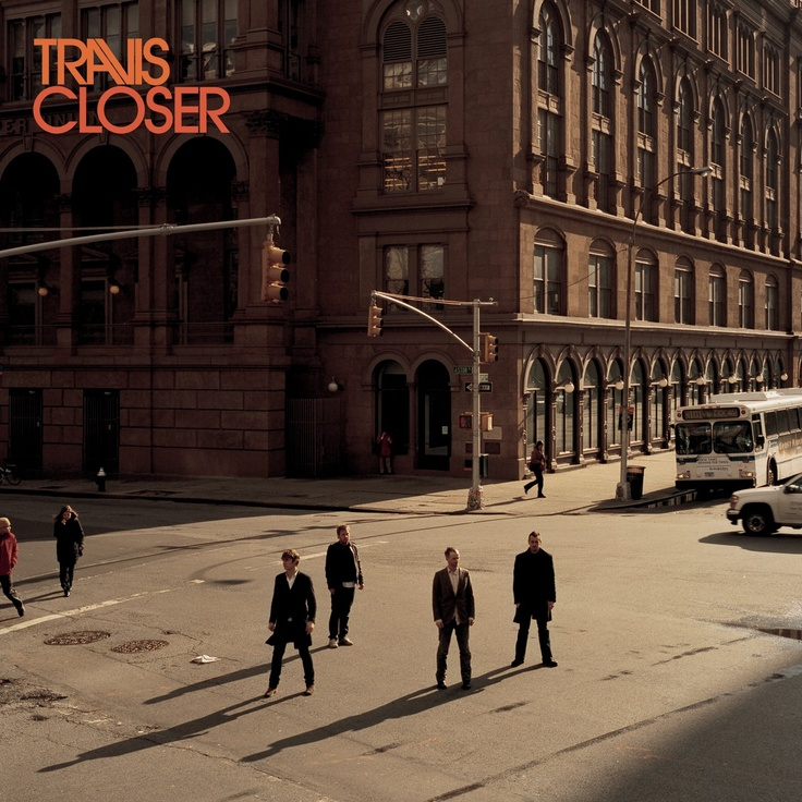 """Travis - """"Closer"""" (single) (2007) [designed by Tappin Gofton studio, photographed by Stefan Ruiz and inspired in Edward Hopper paintings]"""