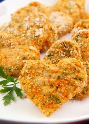 Nugget de Frango com Cenoura e Aveia