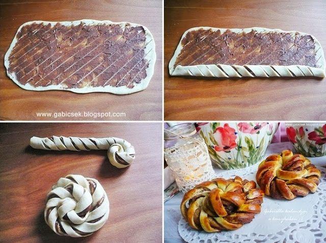 Gabriella kalandjai a konyhában :): Mogyorókrémes turbánok