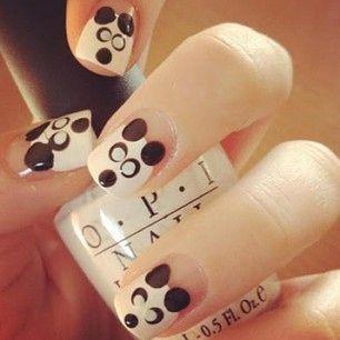 Panda - Instagram nail art