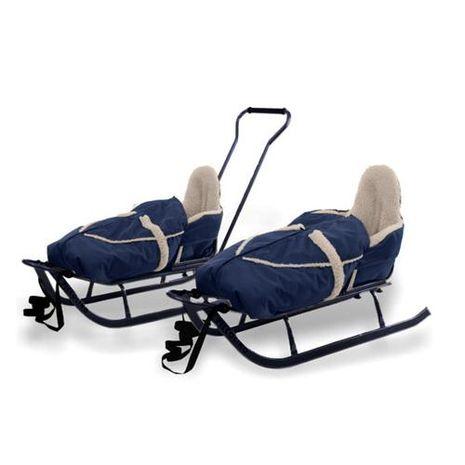 Vehicule pentru copii :: Saniute copii :: Saniute bebelusi :: Saniuta Piccolino cu Saculet Albastru Adbor