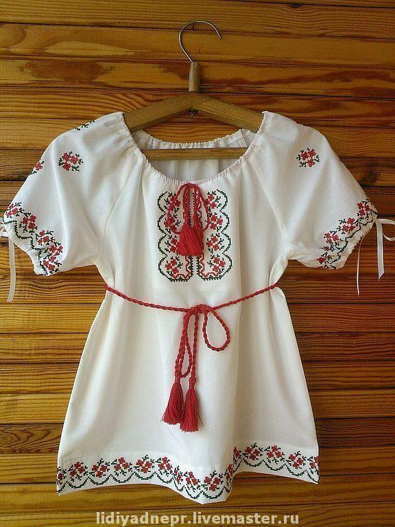 """Вышитая блуза-платье для девочки """"Веснянка"""" – купить в интернет-магазине на Ярмарке Мастеров с доставкой"""