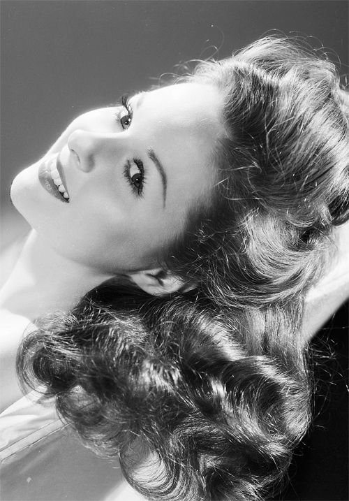 "Susan Hayward, 1941/••••always one of my favorites. I was very young and we saw some movie about the Boar War in Africa w/her and Tyrone Power. After that I desperately wanted ""joan"" hair. They couldn't understand what I was saying. GROWN hair!!!"