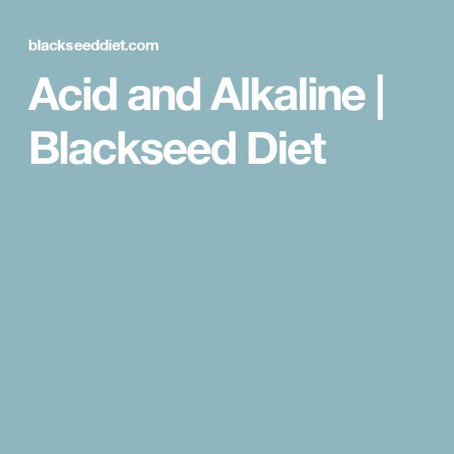 Acid and Alkaline | Blackseed Diet