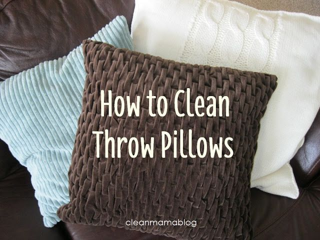 How to Clean Throw Pillows  If the pillow insert cannot be laundered, it can be tossed in the dryer on high heat with some clean tennis balls to 'fluff' it up  Can't remove the cover?  and you cut off the tag?  try washing on gentle/cold - chances are it'll be fine.