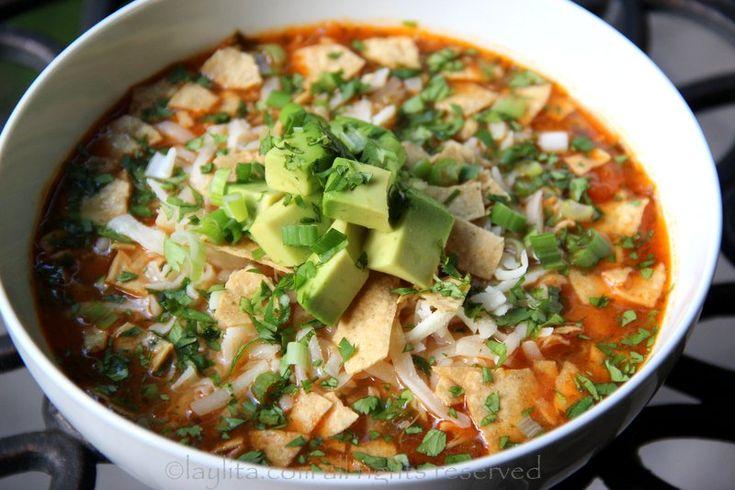 turkey tortilla soup recipe - Laylita's Recipes: Soups, Tortilla Soup ...