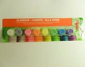 Glamour Dust Glitter Paint  Kit- ultra high quality, 8 colors, ceramics