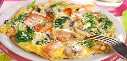 Omelette de espinaca, tomate y queso - Cocina - REVISTA PRONTO - www.pronto.com.ar
