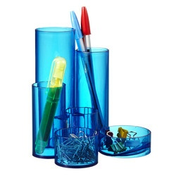 J.Burrows Pencil Caddy Tinted Blue at $5.49 in Pencil Cups