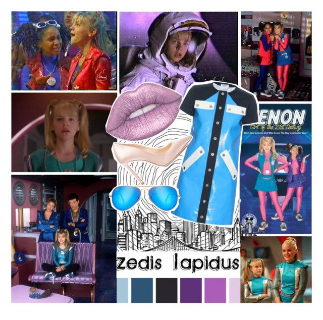 """""""Zedis Lapidus: Zenon Girl of 21st Century"""" by gracedwithstyle ❤ liked on Polyvore featuring Lime Crime, Courrèges, Jimmy Choo, Ray-Ban, Original, disney and movie"""