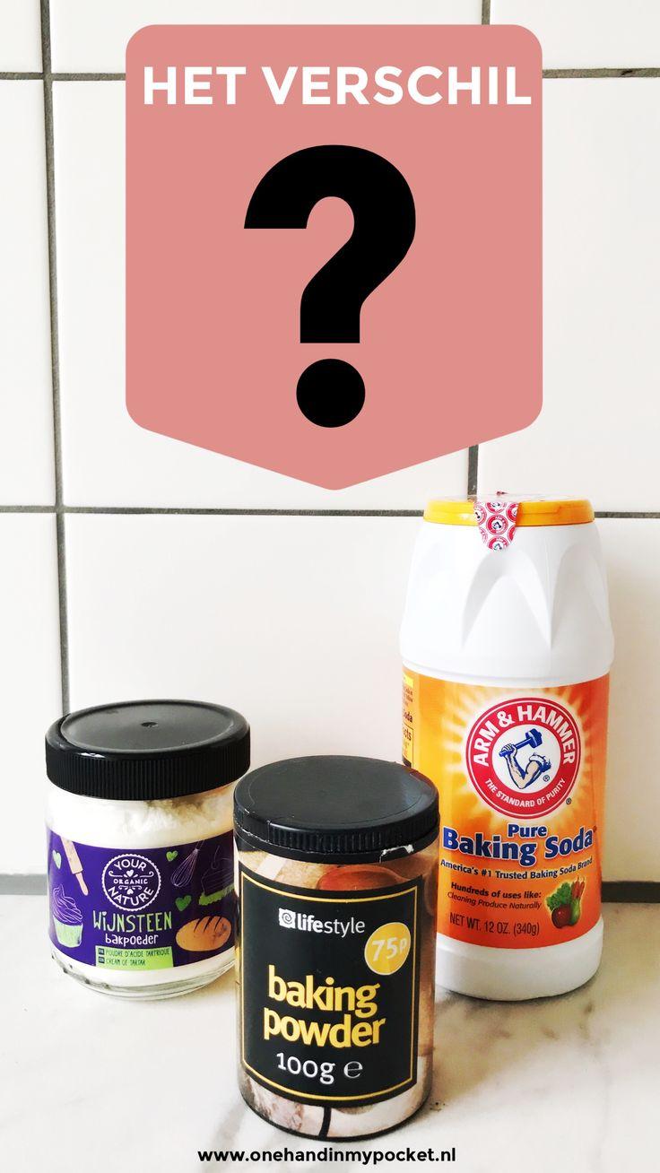 Rijsmiddelen voor taarten, cakes en koekjes, wat een varianten?! Baking soda of bakpoeder, wat is eigenlijk het verschil? En wijnsteenbakpoeder, is dat...