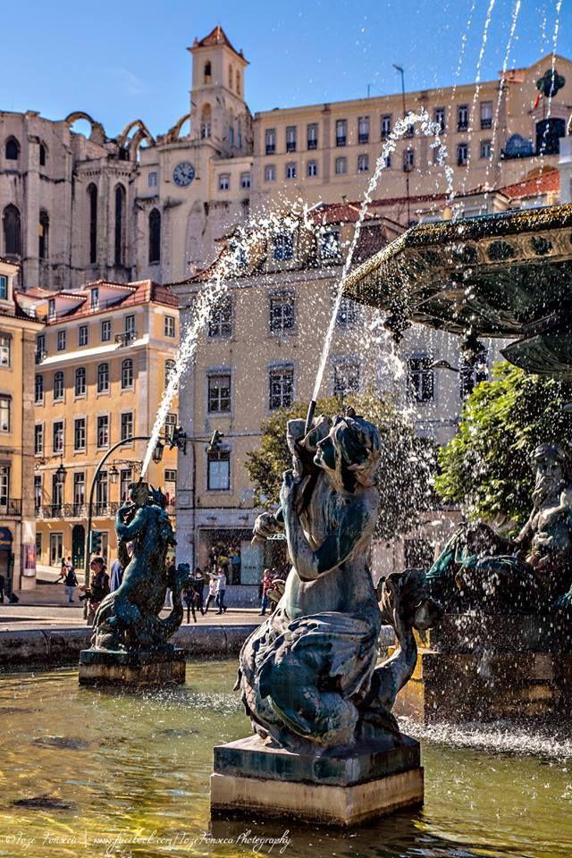Praça de D. Pedro IV (Rossio), Lisbon, Portugal