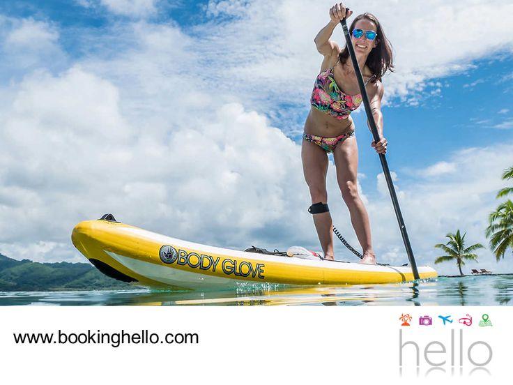 VIAJES EN PAREJA. El clima tropical del Caribe dominicano les permitirá a ti y a tu pareja, disfrutar de la diversidad de actividades acuáticas. El paddleboarding es una de las más sencillas de realizar, además por la tranquilidad del mar, pueden contemplar el paisaje de los alrededores mientras reman de pie. En Booking Hello te invitamos a visitar nuestra página web, www.bookinghello.com e ingresar el código promocional HCARIBE para adquirir tu pack a un precio increíble. #BeHello