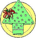 servet vouwen als kerstboom