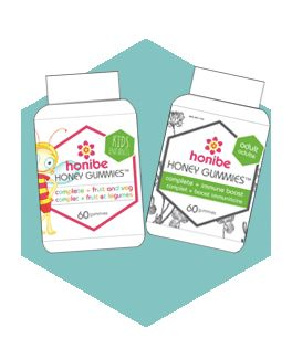 Introducing our NEW honibe honey gummies™ All natural one-a-day honey health for you, your kids & expecting Mom's! http://honibe.com/our-products-gummies/